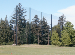 Driving Range Netting Installation