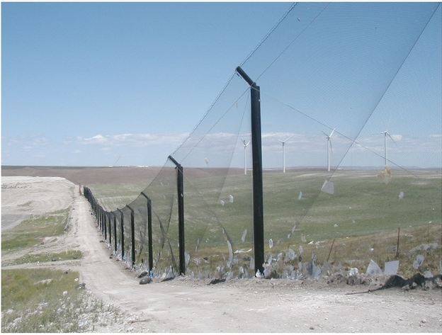 Litter Fence Netting Installation